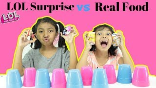 Video LOL SURPRISE VS REAL FOOD CHALLENGE MP3, 3GP, MP4, WEBM, AVI, FLV Juni 2019
