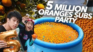 Video 5 MILLION SUBS ORANGE PARTY!! | Ranz and Niana MP3, 3GP, MP4, WEBM, AVI, FLV Februari 2019