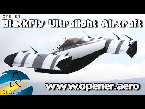 BlackFly electric amphibious ultralight aircraft by Opener.aero