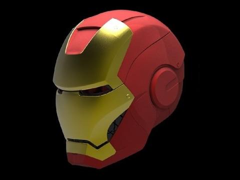 modeling iron man helmet 3d maya tutorial