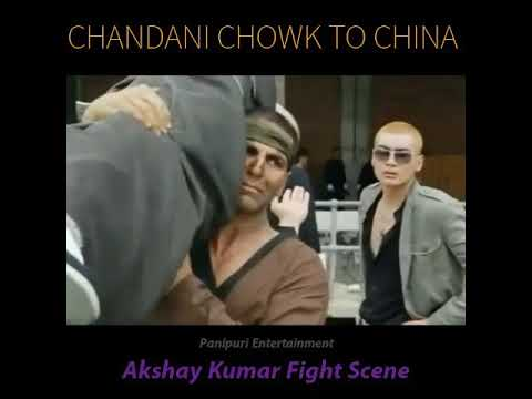Comedy fight scene of chandni chowk to china