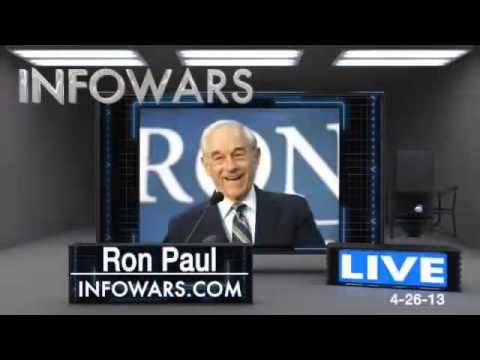 ron - Alex Jones And Ron Paul: The Warning Of What Is To Come Post-Boston Bombings Former Congressman and 2012 presidential contender Ron Paul drops in to give us ...
