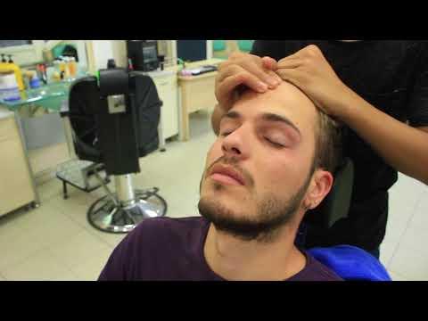 Hairdresser - ASMR Turkish Barber Face,Head and Shoulder Massage 128 
