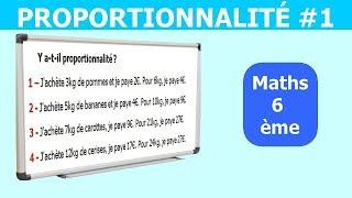 Maths 6ème - La proportionnalité 1 Exercice 3