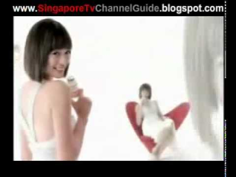 Singapore Advertisement Felicia Chin Vitagen Less Suger Ads