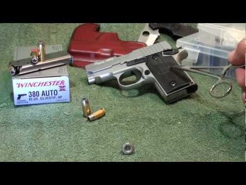 Winchester 380 SILVERTIP 85gr  ballistic gel test