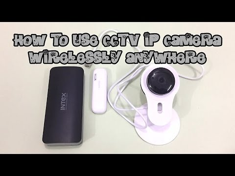 CCTV IP CAMERA ANYWHERE WITHOUT ELECTRICITY