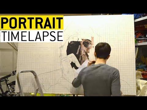 Young Artist Paints Photorealistic Portrait || JukinVideo (видео)