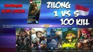 Video ZILONG 1 VS 5,100 Kill TANTANGAN DI MODE CUSTOM - Apakah Zilong Mampu Melakukanya?! MP3, 3GP, MP4, WEBM, AVI, FLV Juli 2018