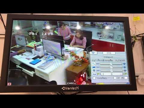 Hướng dẫn cài đặt camera PTZ Vantech VP-5011A VP-5011T