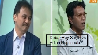 dian Napitupulu dan Roy Suryo berdebat terkait kegiatan mahasiswa di dekat rumah SBY dan masalah pidato SBY