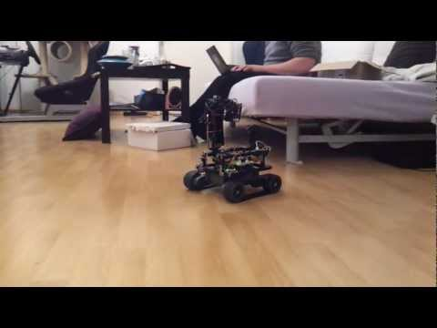 Autonomous robot - Arduino Mega 2560 based robot with following main parts: - Arduino Motor Shield R3 - BlueSMIRF Gold Bluetooth Connection - Infrared Distance Switch - LSM303D...