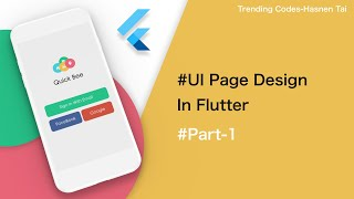 Flutter UI Designing | Complete App Design | Beautiful UI Design In Flutter #part1