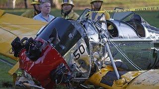Kullandığı uçakla yere çakılan Harrison Ford ağır yaralı
