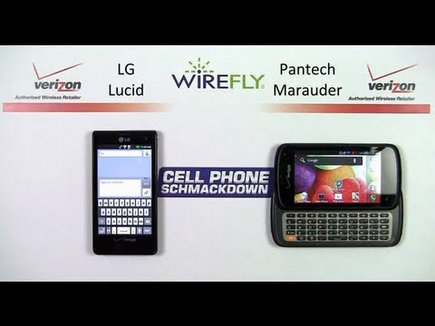 LG Lucid vs. Pantech Marauder Verizon Wireless Smartphone Schmackdown Comparison Review