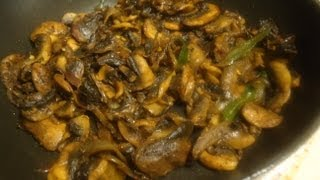 Pepper Mushroom Recipe - Dry Mushroom Side Dish For Rice