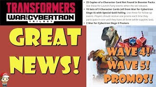 3. Wave 4 Info, New Promos and Wave 5 Revealed!?  Plus SDCC Exclusives (Transformers TCG News)
