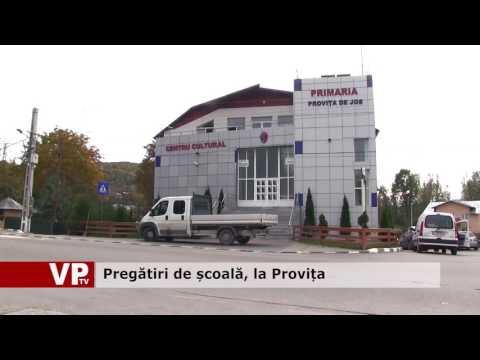 Pregătiri de școală, la Provița