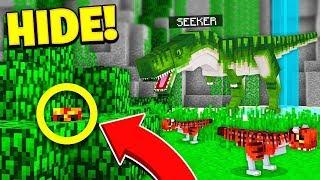 Video WORLDS BEST HIDER?... | JURASSIC WORLD HIDE & SEEK! - Minecraft Mods MP3, 3GP, MP4, WEBM, AVI, FLV Maret 2019