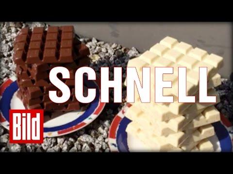 Schokolade in der Sonne - Der Test: Welche schmilzt schneller? Schnelle Version