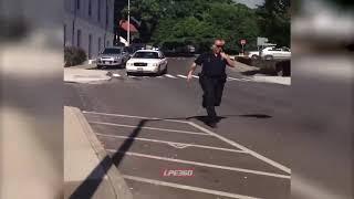 Koleś postanowił pośmiać się z grubszego policjanta… mocno się zdziwił.