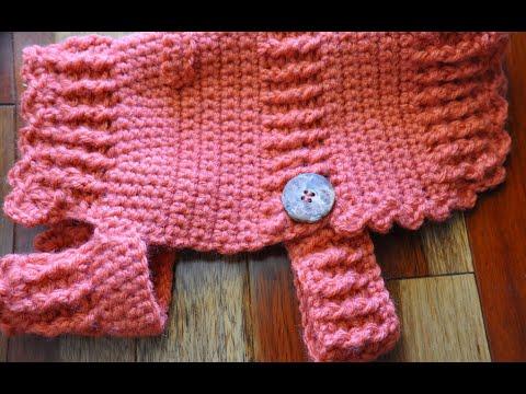 Crochet Dog Sweater Coat - Belly Button Sweater #5