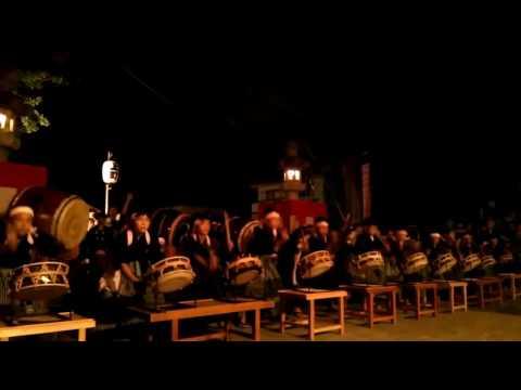 飯坂八幡神社例大祭 2016 前夜祭 飯坂小学校祭り太鼓クラブ part3