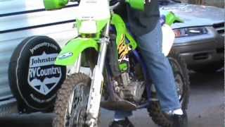 9. 1998 klx300r vs kx 80 dirt bike