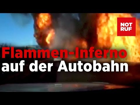 Flammen-Inferno durch undichten Autogas-Truck – Fah ...