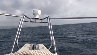 Sailing back from Anguilla to St. Martin/Maarten.