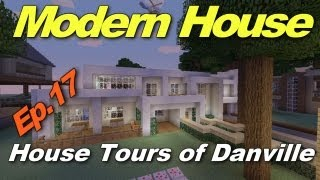 Minecraft Xbox 360: Cool Modern House! (House Tours of Danville Episode 17)
