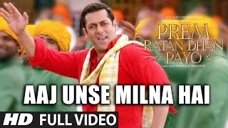 Nonton Aaj Unse Milna Hai Full Video Song   Prem Ratan Dhan Payo Songs 2015   Salman Khan  Sonam Kapoor Film Subtitle Indonesia Streaming Movie Download