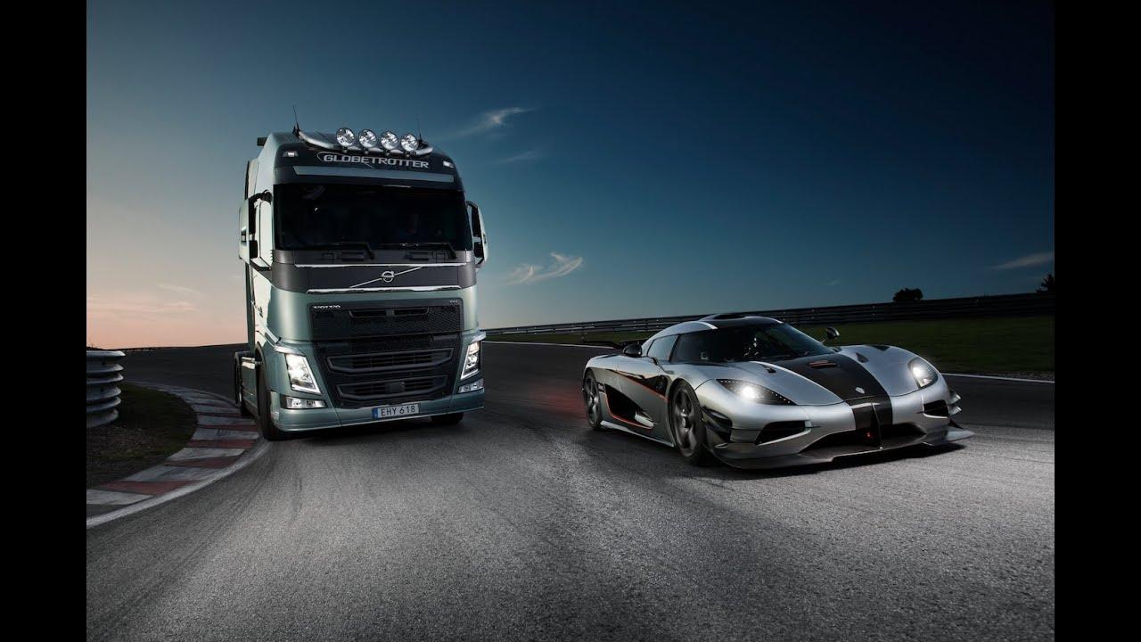Volvo FH vs Koenigsegg One:1 - De ultieme test voor de nieuwe I-Shift Dual Clutch