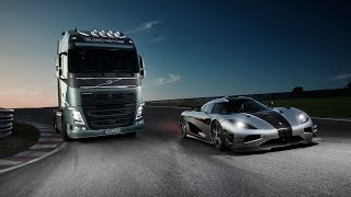 Koenigsegg One:1 Vs Volvo FH Truck In An Unlikely Showdown: Video