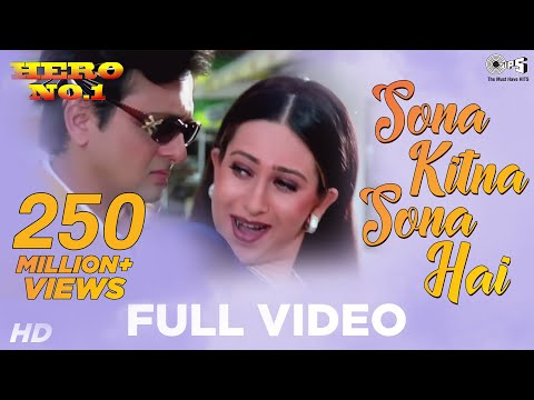 Sona Kitna Sona Hai Song Video - Hero No. 1 | Govinda & Karisma Kapoor | Udit N & Poornima
