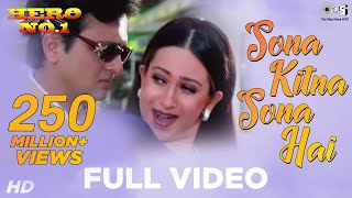 Sona Kitna Sona Hai Song Video - Hero No. 1 | Govinda & Karisma Kapoor | Udit N & Poornima