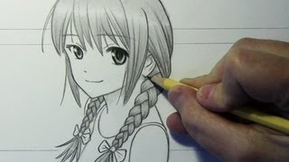Drawing Time Lapse: Girl with Braids
