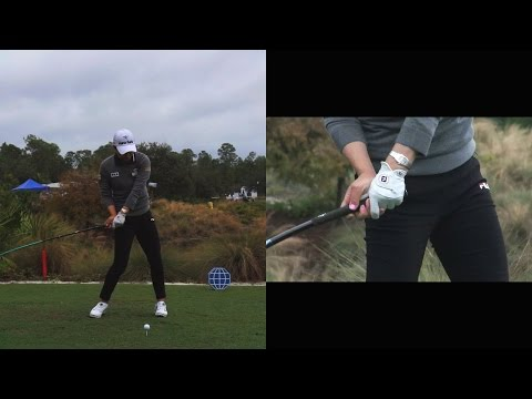 SO YEON RYU – HANDS AT IMPACT (CLOSE UP SLOW MOTION) DRIVER GOLF SWING CME CHAMPIONSHIP 2014 1080p