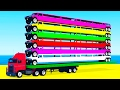 Video LEARN COLORS and Long Cars Learn Numbers w Spiderman Cartoon for Kids Learning Video
