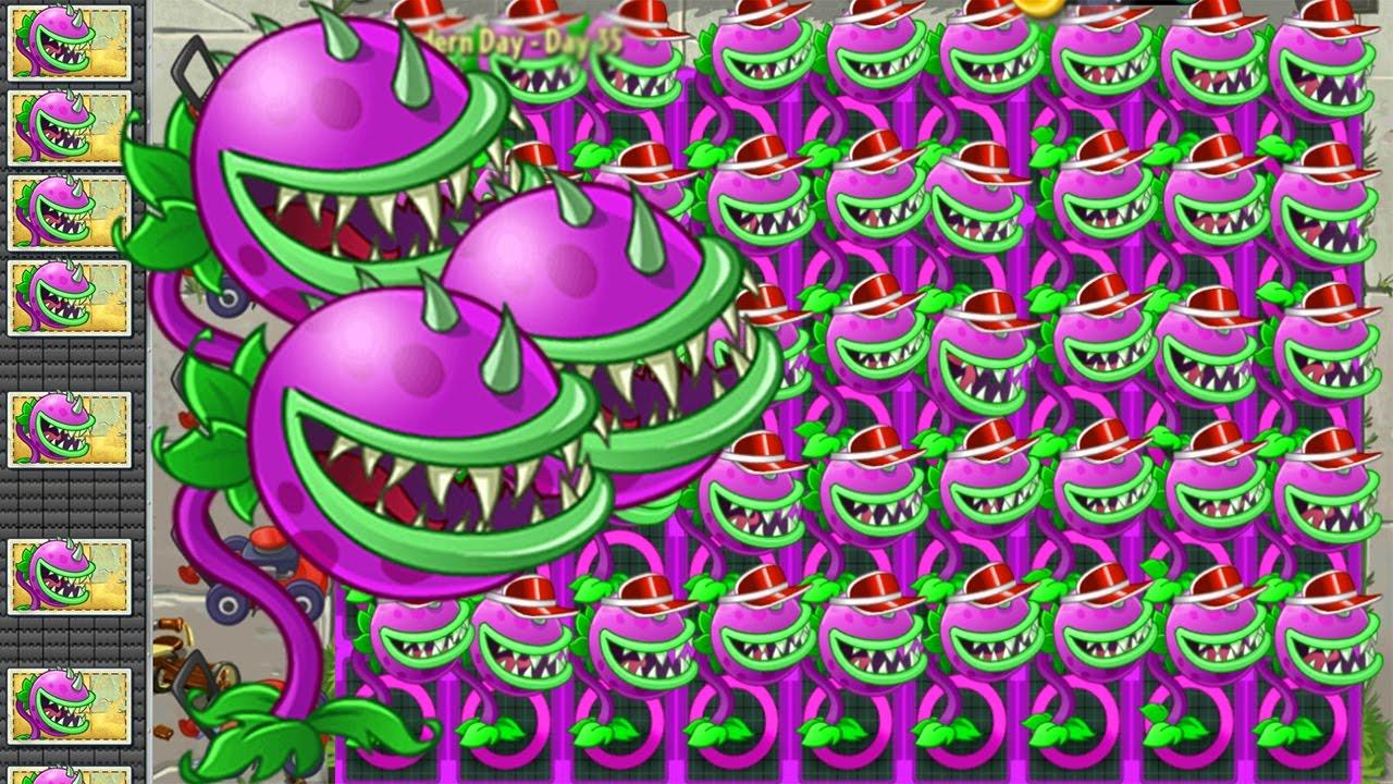 Plants vs Zombies 2 Mod: CHOMPER vs GARGANTUAR FIGHT!