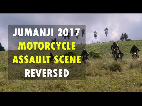 Jumanji 2017 | Motorcycle Assault Scene Reversed | 2/10