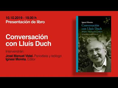 Presentació de 'Conversación con Lluís Duch', d'Ignasi Moreta, amb José Manuel Vidal, a Madrid