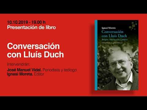 Presentación de 'Conversación con Lluís Duch', de Ignasi Moreta, con José Manuel Vidal, en Madrid