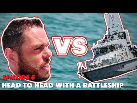 Head to head with a battleship. | Ross Edgley's Great British Swim: E5 (видео)