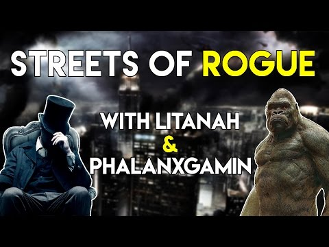 VAMPIRE AND GORILLA on the Streets of Rogue - Coop Multiplayer Online Gameplay 2017