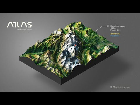 From Google Maps to 3D Map in Photoshop - 3D Map Generator - Atlas