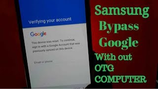 Video NEW METHOD BYPASS GOOGLE Account Samsung (WITH OUT OTG /PC) MP3, 3GP, MP4, WEBM, AVI, FLV Juni 2019