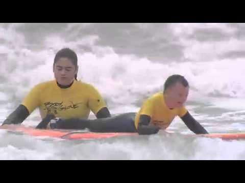 Hayley Boulden has finished her advert to get disabled young people surfing. Watch it here!