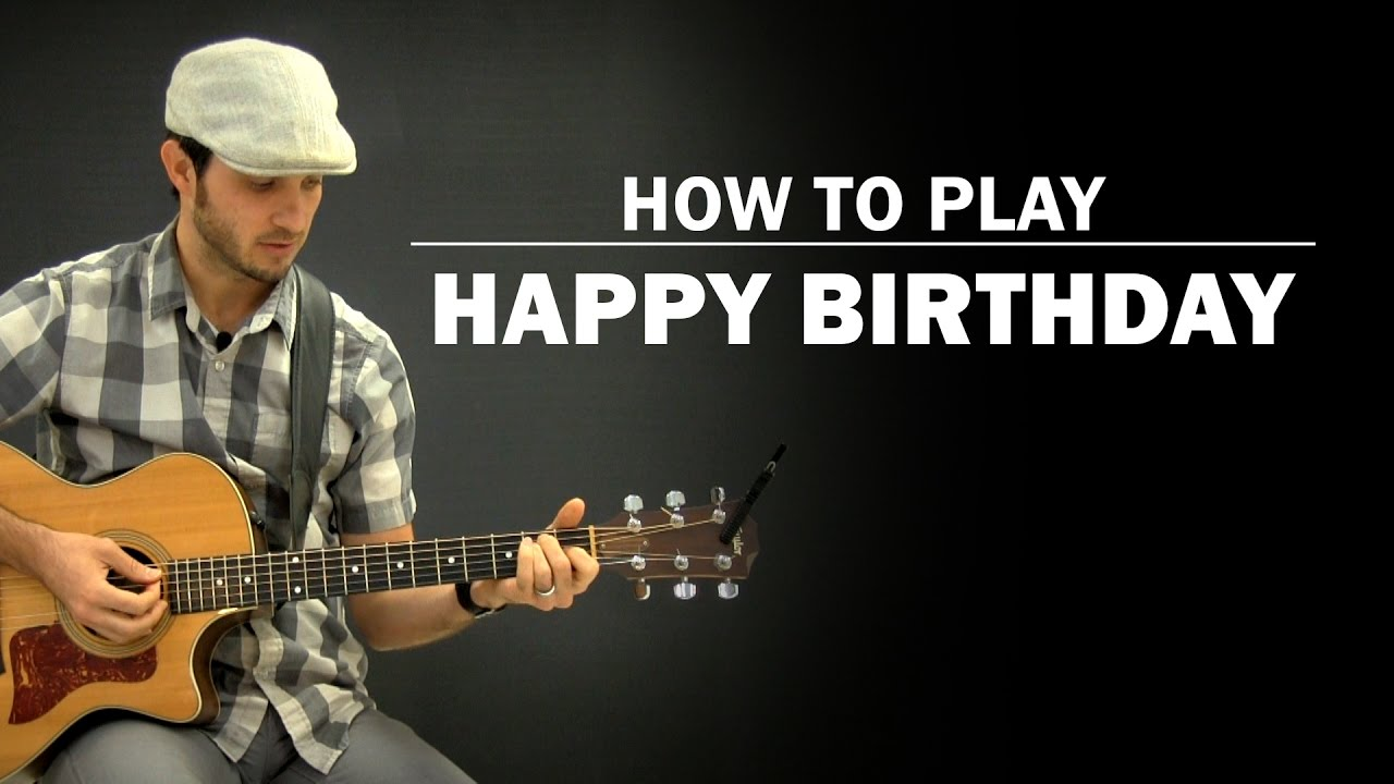 Happy Birthday Song | How To Play | Beginner Guitar Lesson