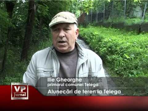 Alunecări de teren la Telega